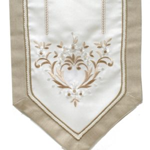TABLE RUNNER-HEART-BEIGE(35X175CM)