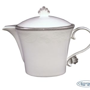 TEAPOT-VINTAGE WHITE EACH