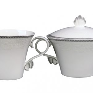 SUGAR & CREAMER-VINTAGE-WHITE SET