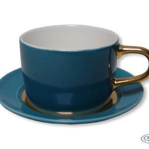 CUP & SAUCER-CLASSIC-BLUE (14CM) SET