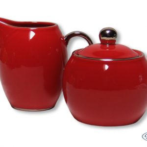 SUGAR & CREAMER -LADY SIENNA-RED SET