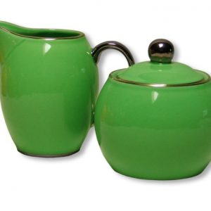 SUGAR & CREAMER -LADY SIENNA-GREEN SET