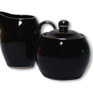 SUGAR & CREAMER-LADY SIENNA-BLACK SET