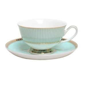 CUP & SAUCER-MISS ALICE-GREEN SET