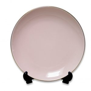 PLATE-VINTAGE-PINK(20CM) SET OF 4