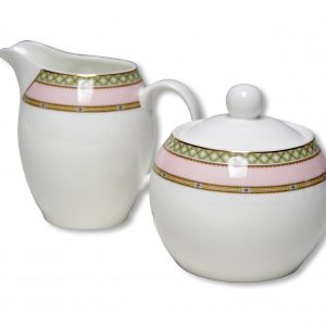 SUGAR & CREAMER-LADY JANE-PINK SET