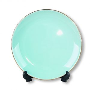 PLATE-VINTAGE-TEAL (17CM) SET OF 4