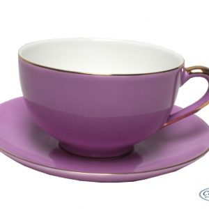 CUP & SAUCER-VINTAGE ROYALE-VIOLET SET OF 2