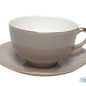 CUP & SAUCER-VINTAGE ROYALE-WARM GREY SET OF 2