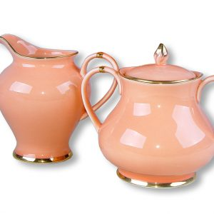 SUGAR & CREAMER-VINTAGE-APRICOT SET OF 2