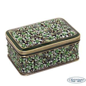 TRINKET BOX BLOSSOM GREEN (7CM)