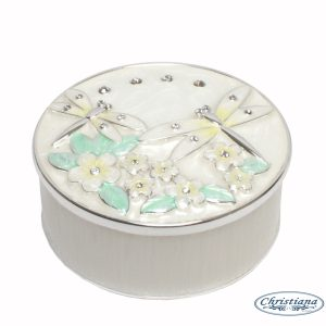 TRINKET BOX DRAGONFLY IVORY (7CM)
