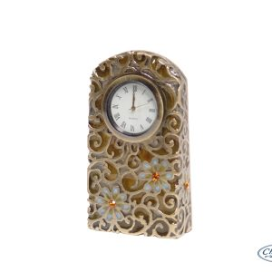CLOCK DAISY STAIN GLASS MANTLE(10CM)