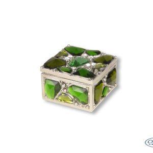 TRINKET BOX GEMMA EMERALD(5X3CM)