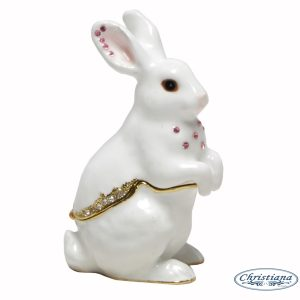 TRINKET BOX RABBIT (8CM)