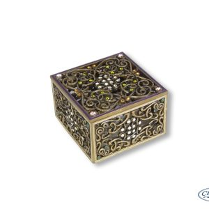 TRINKET BOX CELTIC KNOTS SQUARE