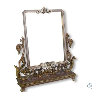 MIRROR BRONZE RECTANGULAR W/STAND