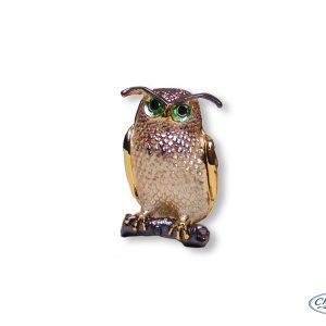 TRINKET BOX OWL ORNAMENT(7CM)