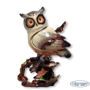 TRINKET BOX OWL ON BRANCH (9CM)