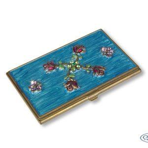 CARD HOLDER ROSES & BUTTERFLIES