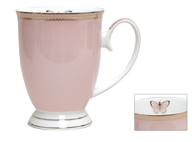 MUG-DOILEY BUTTERFLY-PINK